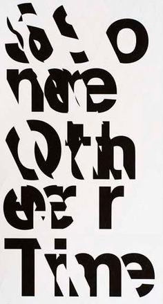 Sfeer in typografie: fragmentatie.