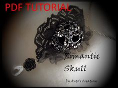 Beading Tutorial 3D Romantic Skull by AntosCreations on Etsy