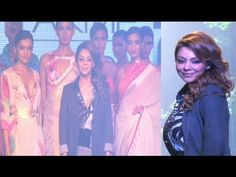 Bollywood King Shahrukh Khan's wife Gauri Khan in SHORT dress walks the ramp at Lakme Fashion Week on Day 3 to showcase her collection. Gauhar Khan, Lakme Fashion Week, Gossip, Walks, Interview, Short Dresses, Photoshoot, Concert, Music