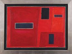 062 Kompozycja czerwona, 1958 r.