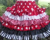 Minnie Dot Twirl Nie Nie Skirt Mouse Custom Boutique Disney Girl 2 3 4 5 6 7 8
