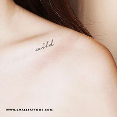 Handwritten 'Wild' Temporary Tattoo (Set of 3) – Small Tattoos Small Words Tattoo, One Word Tattoos, Cute Tattoos, Tatoos, Meaningful Tattoos For Women, Tattoos For Women Small, Small Tattoos, Live Tattoo, Tattoo Set