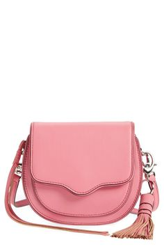 Crushing on this perfectly pink equestrian-inspired crossbody bag from Rebecca Minkoff.