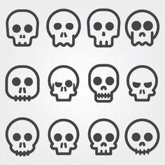 Crânio ícones coleção