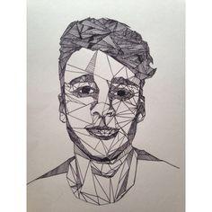 geometric fineliner drawing