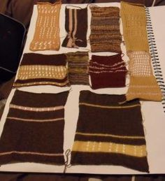 starting the knit samples