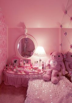 Cute and Kawaii Room Ideas for Your Daughters. Cute and Kawaii Room Ideas. The room is the most comfortable and private place in the world. In the room we can do our favorite activities from sleepi. Aesthetic Rooms, Pink Aesthetic, Girls Bedroom, Pink Bedrooms, Shabby Bedroom, Pretty Bedroom, Cute Room Ideas, Kawaii Room, Pink Room
