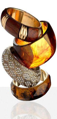 mixed bangle stacking ♥✤ | KeepSmiling | BeStayBeautiful