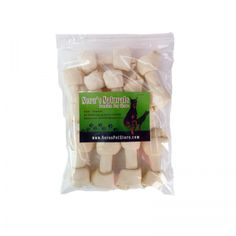 The 6 - 7 inch Rawhide Bone is made from free-range, pastured-raised, grass-fed cows.