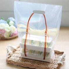 10 Brown Bag Design Illustration Plastic Bags  by WonderlandRoom