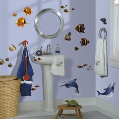 Under the Sea Peel and Stick Wall Decals, Multicolor
