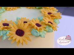 Sonnenblume aus Fondant | Tutorial von Nicoles Zuckerwerk | How to make ...