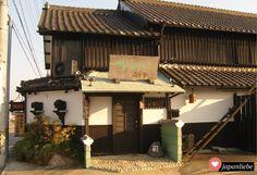 Klassisches japanisches Haus bei Abendrot   japanliebe.de