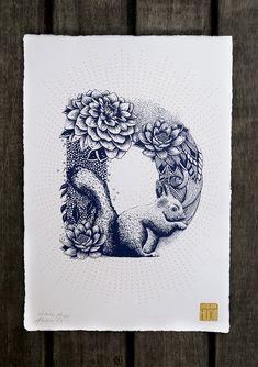 Das Alphabet ist ja immer wieder die Basis für viele kreative Arbeiten. Auch die KünstlerinValérie Hugo aus Paris hat sich die 26 Buchstaben geschnappt, um ihnen einen ganz neuen Look zu verpassen. Inspiriert von der Natur, formte sie mithilfe von Tieren,