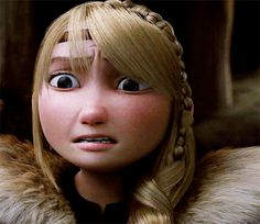 Astrid when she thought Hiccup was dead