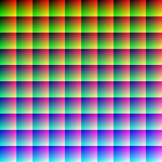 How many colors would you say are within the four sides of this one image? If your number doesn't have six zeroes in it, then you're wrong! The smooth graduation of the hues has packed one million different and unique colors into it.
