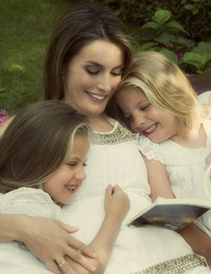 Miss Honoria Glossop:  Crown Princess Letizia of Spain with her daughters Leonor and Sofia