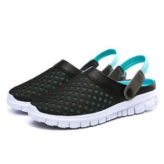 US Size 5-10 Men Sandals Slipper Comfortable Breathable Slip On Beach Sandals Flats Summer Slipper