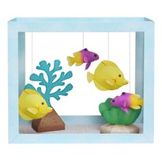 Tropical fish float gently back and forth in this beautiful paper aquarium. It's simple to make and is a wonderful decoration to brighten up any room!