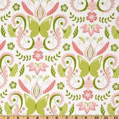 Green Butterfly Window Curtain Panels with by NootkaNurseryDesigns