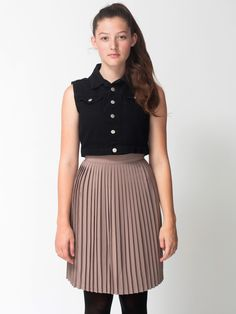 American Apparel - Pleated Skirt #PINATRIPWITHAA #AMERICANAPPERAL