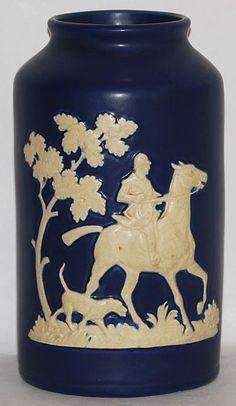 Weller Pottery Cylindrical Chase Vase