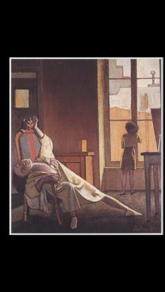 """. Balthus - """" La Semaine des quatre jeudis """", 1949 - Oil on canvas - 97,7 x 83, 8 cm - The Frances Lehman Loeb Art Center, Vassar College, Poughkeepsie, New York (-)"""