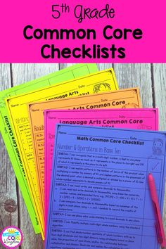 Checklists for all fifth grade Common Core State Standards. CCSS checklists and assessment recording sheets that are perfect for students and teacher data tracking and grade data notebooks. Teachers Standards, Common Core Math Standards, Common Core Checklist, Fifth Grade Math, Second Grade, Data Notebooks, Reading Assessment, Data Tracking, Common Core Reading