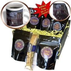 BLN Vintage New York City Collection - Brooklyn Bridge and the River At Night with a Full Moon - Coffee Gift Baskets - Coffee Gift Basket (cgb_170443_1)