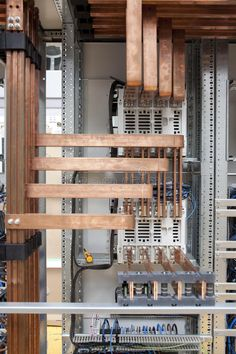 Photo about Cooper electrical panel construction detail. Image of center, automaton, direct - 11287398 Electrical Wiring Colours, Electrical Layout, Electrical Diagram, Sales Image, Cable Management, Wine Rack, Liquor Cabinet, Copper, Construction