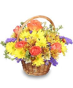 HARVEST HARMONY Flower Basket  http://www.delorices.com/product/ba01306/harvest-harmony