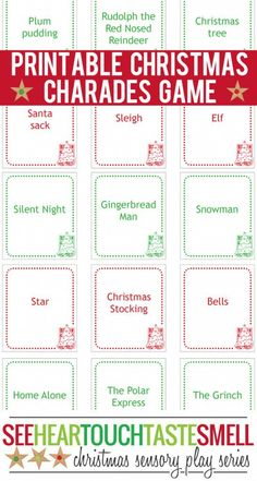 This Christmas Charades game is great for families, school classes and youth groups or as an ice breaker activity. The printable game cards make it easy to prepare and play.