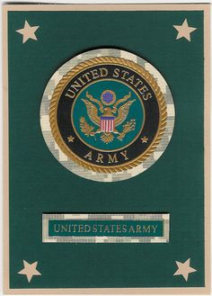 United States Army Insignia Blank Card by ChainMailandMore. 25% of proceeds from all military cards go to the Wounded Warrior Project and the Special Operations Warrior Foundation