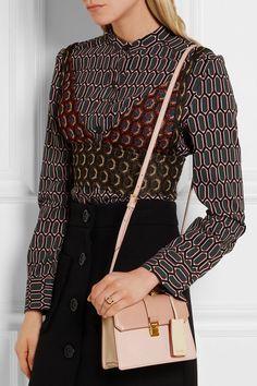 Miu Miu | Madras mini textured-leather shoulder bag | NET-A-PORTER.COM