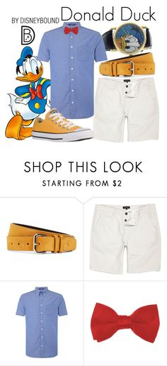 """Donald Duck"" by leslieakay ❤ liked on Polyvore featuring Brooks Brothers, River Island, GANT, Converse, men's fashion, menswear, disney, disneybound and disneycharacter"