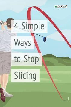 Golf Tips Swing Tired of that big slice? Here are 4 easy ways to fix your golf swing and get the ball back on the short grass. Golf Slice, Golf Instructors, Golf Videos, Golf Drivers, Golf Driver Tips, Golf Driver Swing, Golf Putting, Golf Tips For Beginners, Perfect Golf