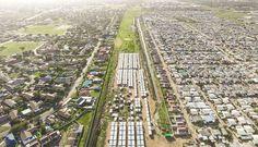 Fotografías aéreas que revelan las escenas de desigualdad que existen en Sudáfrica