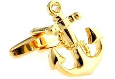 #Anchor #cufflinks gold navy usn boat ship #wedding fancy gift box free ship usa,  View more on the LINK: http://www.zeppy.io/product/gb/2/391176636983/