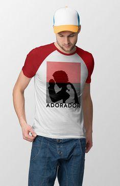 Camiseta Raglan Adorador Shirt Style, Tees, T Shirt, Fashion, Raglan Tee, Stampin Up, Supreme T Shirt, Moda, T Shirts