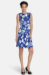Tahari Sequin Floral Print Fit & Flare Dress (Regular & Petite)