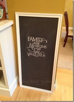 Chalkboard project hand lettering tutorial by Kimberly Crawford Chalk Writing, Chalkboard Writing, Chalkboard Lettering, Diy Chalkboard, Lettering Ideas, Crafts To Do, Paper Crafts, Hand Lettering Tutorial, Craft Tutorials