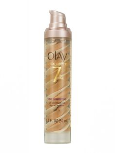 Olay's CC cream contains N-acetyl glucosamine and niacinamide—a combination shown to reduce discoloration in as few as six weeks.