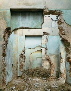 Layers of decay and use. Mystery, timeworn, deep sense of history and conflict. Beautiful with a tinge of sadness. (Commentary by Molly Morrissey, www.mollymorrissey.com)