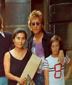 So cute..Yoko, John & Julian