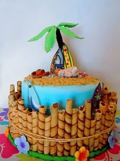 surfing baby shower cake | baby shower - by Random Acts of Sweetness @ CakesDecor.com - cake ...