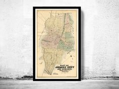 Old Map of Jersey City and Hoboken , Hudson County 1882 by OldCityPrints on Etsy https://www.etsy.com/listing/157829806/old-map-of-jersey-city-and-hoboken