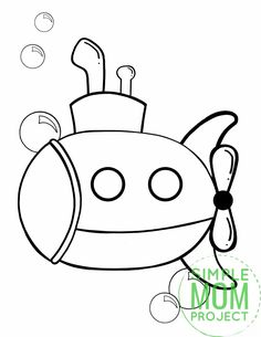Is your favorite song Yellow Submarine by the Beatles or are you and your preschooler learning about ships in the sea? Use this free printable submarine coloring page to help! My daughter loves Octonauts and if yours do too, they will love coloring their own submarine page. It comes in black and white and available for print right now! #Submarinecoloring #coloringpages #SimpleMomProject Submarine Drawing, Submarine Craft, Yellow Submarine, Vbs Crafts, Beach Crafts, Summer Crafts, Water Crafts, Ocean Coloring Pages, Animal Coloring Pages