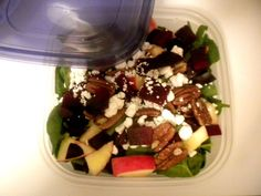 Roasted Beet and Spinach Salad with Goat Cheese, a recipe on Food52