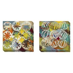"""Judy Paul 'Eyelets A' 2-piece Gallery Wrapped Canvas Art Set 23"""" x 23"""" $124.73"""