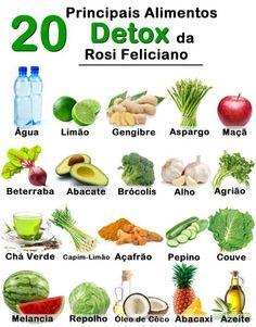 20 alimentos detox Rosi Feliciano